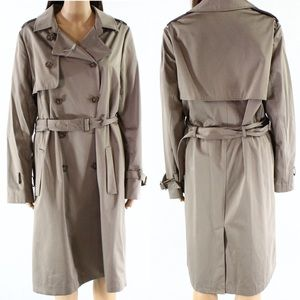 SOIA & KYO💥$315 Belted Button Down Trench Coat